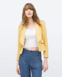 Frayed Short blazer at Zara