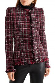 Frayed tweed blazer at The Outnet
