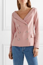 Frayne double-breasted crepe blazer at Net A Porter