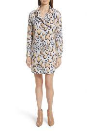 Freda Animal Print Silk Shirtdress at Nordstrom Rack
