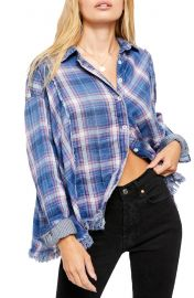 Free People Seeking Starlight Plaid Shirt   Nordstrom at Nordstrom
