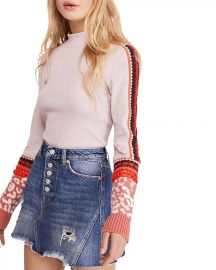 Free People Switch It Up Crochet-Trim Thermal Top  Women - Bloomingdale s at Bloomingdales