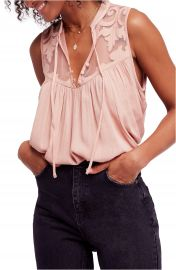 Free People Western Romance Tank in Pink at Nordstrom