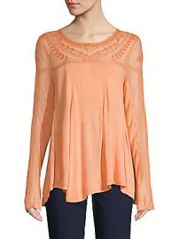 Free People - Botanical Lace Long-Sleeve Top at Saks Off 5th