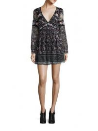 Free People - Cherry Blossom Embroidered Mini Dress at Saks Fifth Avenue
