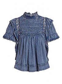 Free People - Le Femme Chambray Top at Saks Fifth Avenue