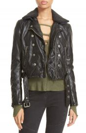 Free People  Ashville  Faux Leather Biker Jacket at Nordstrom