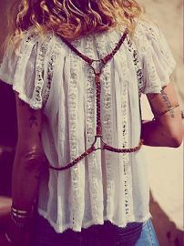 Free People  Braided Harness Belt at Free People