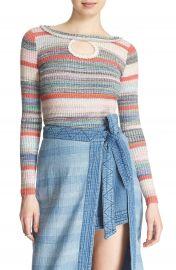 Free People  Sunshine Dreamer  Stripe Keyhole Sweater at Nordstrom