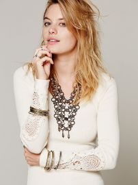 Free People  Synergy Cuff Thermal in ivory at Free People