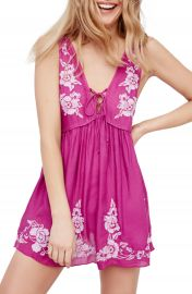 Free People Aida Embroidered Slipdress at Nordstrom