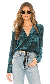 Free People Aspen Nights Velvet Top in Green from Revolve com at Revolve