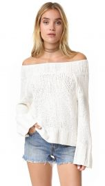 Free People Beachy Slouchy Pullover Sweater in Ivory at Shopbop