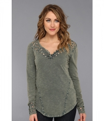 Free People Blue Luna Long Sleeve Top Dark Turquoise at 6pm