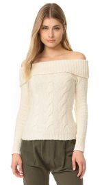 Free People Cable Fold Over Sweater at Shopbop