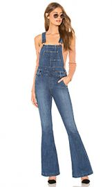 Free People Carly Flare Overall in Blue from Revolve com at Revolve