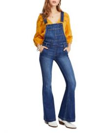 Free People Carly Flared Denim Overalls  Women - Bloomingdale s at Bloomingdales