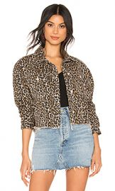 Free People Cheetah Printed Denim Jacket in Neutral Combo from Revolve com at Revolve