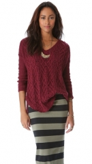 Free People Cross My Heart Pullover at Shopbop