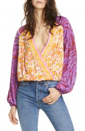 Free People Cruisin  x27  Together Print Top   Nordstrom at Nordstrom