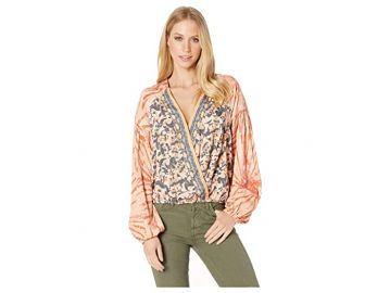 Free People Cruisin Together Printed Top in Neutral Combo at Zappos