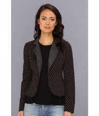 Free People Diamond Textured Knit Polka Dot Blazer Red Combo at 6pm