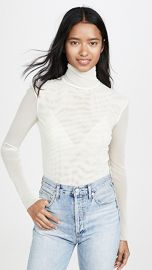 Free People Double Layer Mesh Turtleneck at Shopbop