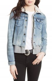 Free People Double Weave Denim Jacket   Nordstrom at Nordstrom