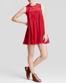 Free People Dress - Tu Es La Mini in Red at Bloomingdales