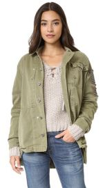 Free People Embellished Military Shirt Jacket at Shopbop