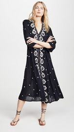 Free People Embroidered V Maxi Dress at Shopbop