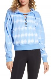 Free People FP Movement Tie Dye Believer Lace-Up Hoodie at Nordstrom