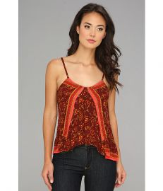 Free People FP One Print Tank Burgundy Combo at 6pm