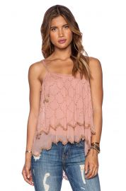 Free People Fairy Dust Tank in Dark Peach at Revolve