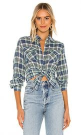 Free People First Bloom Plaid Top in Blue from Revolve com at Revolve