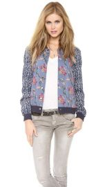 Free People Floral Print Baseball Jacket at Shopbop