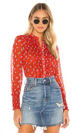 Free People Flowers In December Blouse in Red from Revolve com at Revolve