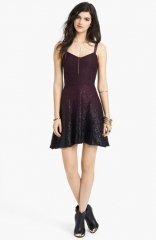 Free People Foiled Ombr Lace Fit andamp Flare Dress at Nordstrom