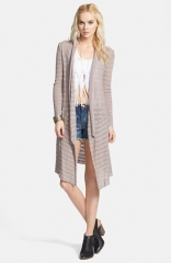 Free People Forget Me Not Drape Front Stripe Cardigan at Nordstrom