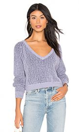 Free People High Low V Sweater in Purple Combo from Revolve com at Revolve