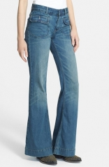 Free People High Rise Flared Jeans at Nordstrom
