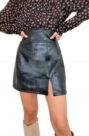 Free People Holding Onto A Dream Coated Denim Miniskirt   Nordstrom at Nordstrom