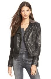 Free People Hooded Faux Leather Moto Jacket at Nordstrom