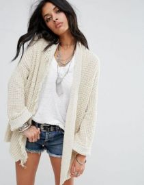 Free People I ll Be Around Silk Mix Knit Cardigan at asos com at Asos