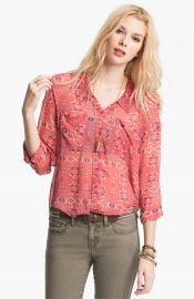 Free People Kaleidoscope Print Chiffon Shirt at Nordstrom