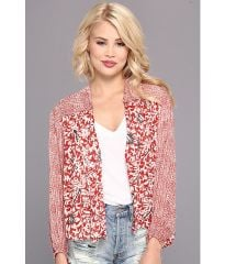 Free People Kimono Balloon Sleeve Top Rouge Combo at 6pm