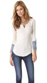 Free People Kyoto Cuff Thermal Top at Shopbop