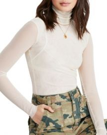 Free People Mesh Turtleneck Top  Women - Bloomingdale s at Bloomingdales