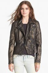 Free People Metallic Faux Leather Jacket at Nordstrom