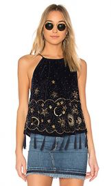 Free People Midnight Magic Embellished Tank in Midnight from Revolve com at Revolve